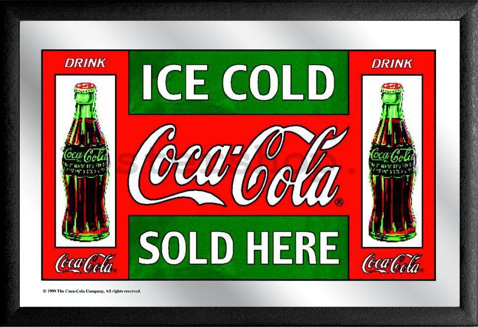 Zrcadlo - Coca-Cola (Ice Cold Sold Here)