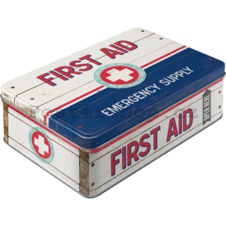 Plechová dóza - First Aid (Emergency Supply)