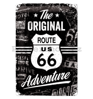 Plechová cedule - Route 66 (The Original Adventure)