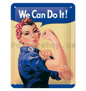 Plechová cedule: We Can Do It! - 20x15 cm