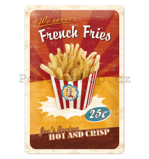 Plechová cedule – French Fries