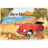 Plechová cedule – VW Beetle Ready for the Beach