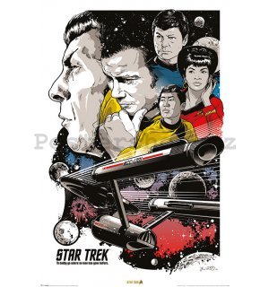 Plakát - Star Trek (To Boldly Go Where No Man Has Gone Before)