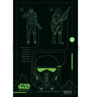 Plakát - Star Wars Rogue One (Death Trooper Blueprints)
