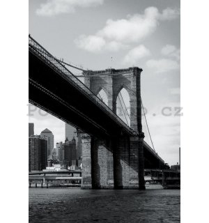 Fototapeta - Černobílý Brooklyn Bridge (4)