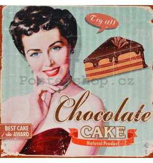 Obraz na plátně - Chocolate Cake (Pin up)