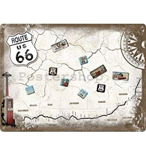 Cedule s magnety - Route 66