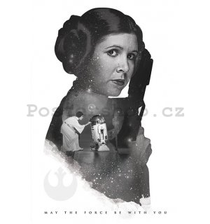 Plakát - Star Wars Princezna Leia (May the Force Be With You)