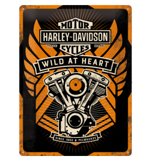 Plechová cedule - Harley-Davidson Wild At Heart (Special Edition)