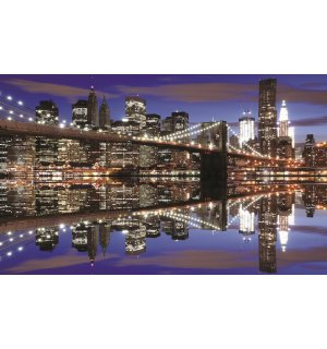 Fototapeta: Noční Brooklyn Bridge (2) - 184x254 cm