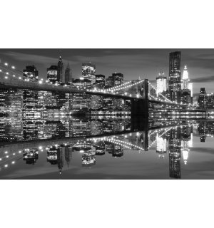 Fototapeta: Černobílý Brooklyn Bridge (3) - 184x254 cm