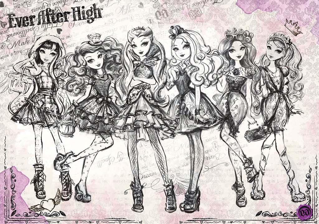 Fototapeta: Mattel Ever After High (1) - 184x254 cm