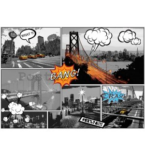 Fototapeta: New York (Comics) - 184x254 cm
