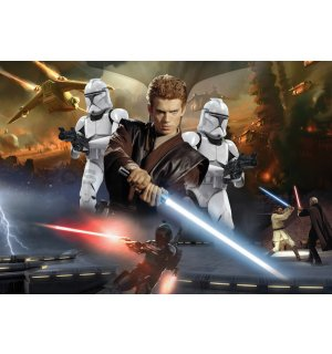 Fototapeta: Star Wars Attack of the Clones (2) - 184x254 cm