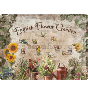 Cedule s magnety - English Flower Garden