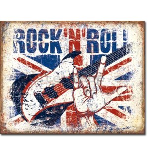 Plechová cedule - Rock and Roll (British)