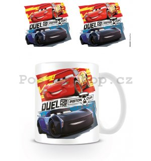 Hrnek - Auta, Cars 3 (Duel for the Piston Cup)