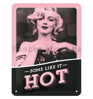 Plechová cedule: Marilyn Monroe (Some Like It Hot) - 20x15 cm