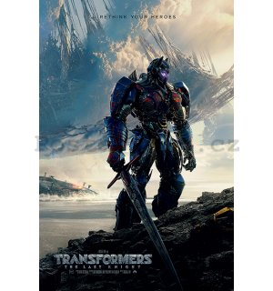 Plakát - Transformers Last Knight (Rethink Your Heroes)