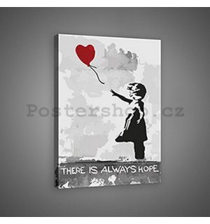 Obraz na plátně: There is Always Hope (graffiti) - 75x100 cm