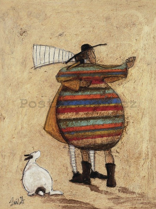 Obraz na plátně - Sam Toft, Dancing Cheek to Cheeky