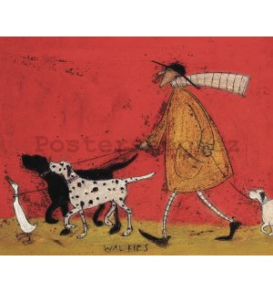 Obraz na plátně - Sam Toft, Walkies