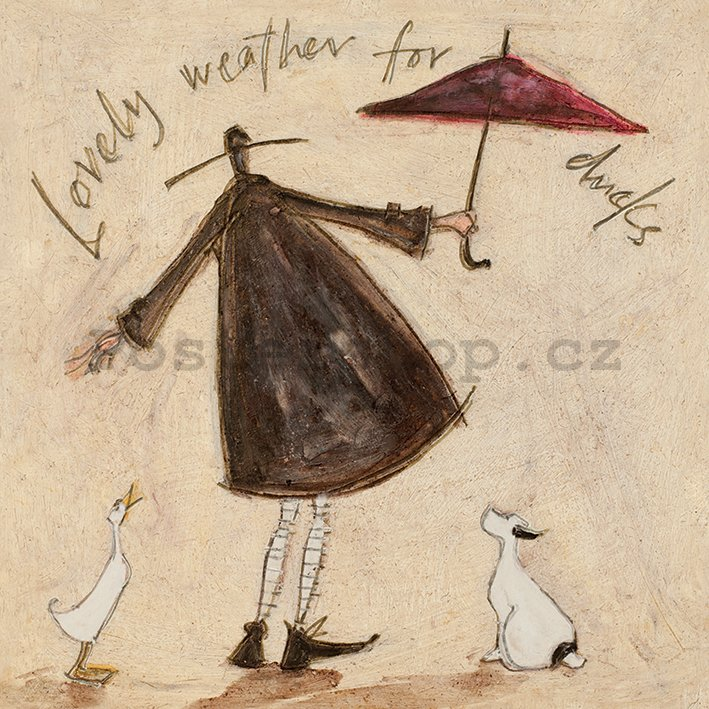 Obraz na plátně - Sam Toft, Lovely Weather for Ducks
