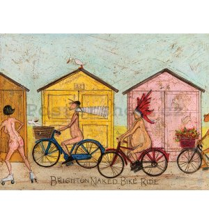 Obraz na plátně - Sam Toft, Brighton Naked Bike Ride