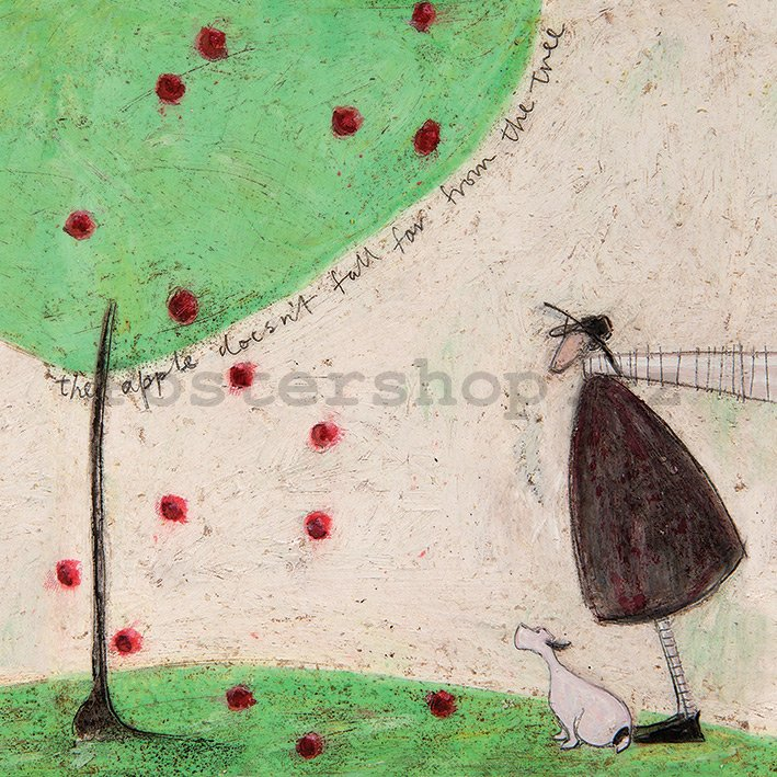 Obraz na plátně - Sam Toft, The Apple Doesn't Fall Far From Tree