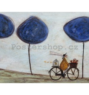 Obraz na plátně - Sam Toft, Freewheelin' with Joyce Greenfields and the Felix 3