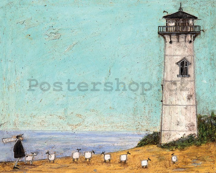 Obraz na plátně - Sam Toft, Seven Sisters and a Lighthouse