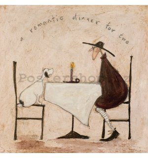 Obraz na plátně - Sam Toft, A Romantic Dinner For Two