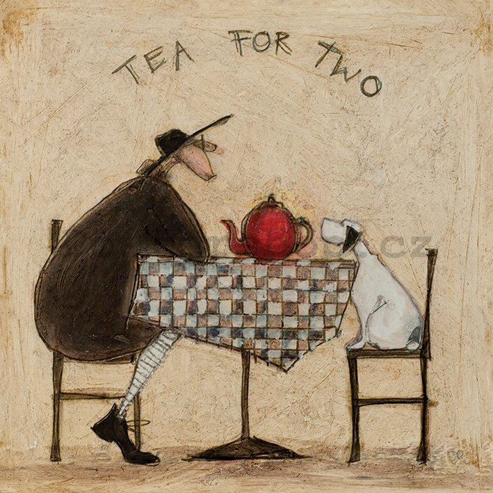 Obraz na plátně - Sam Toft, Tea For Two