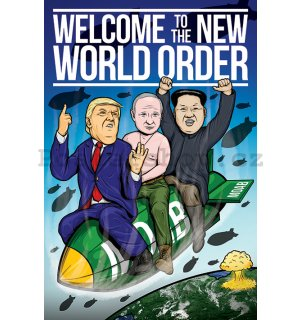 Plakát - Welcome to the New World Order