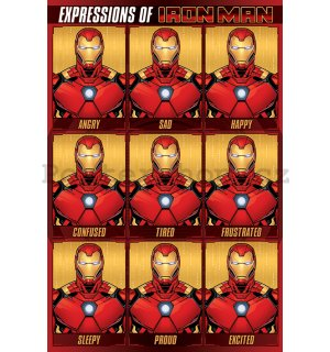 Plakát - Expressions of Iron Man