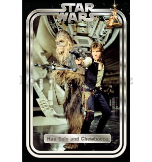 Plakát - Star Wars Classic (Han and Chewie Retro)