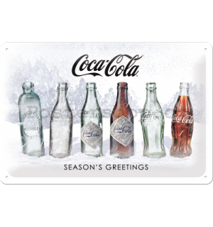 Plechová cedule: Coca-Cola White Special Edition (Season's Greetings) - 30x20 cm