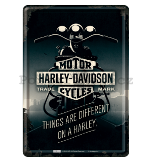 Plechová pohlednice - Harley-Davidson ( Things Are Different)