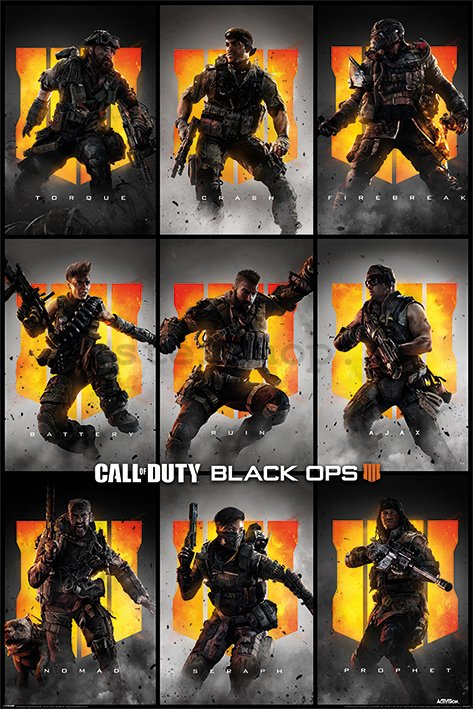 Plakát - Call of Duty Black Ops 4 (Characters)