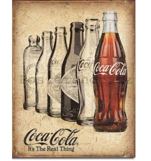 Plechová cedule - Coca-Cola (It's The Real Thing)
