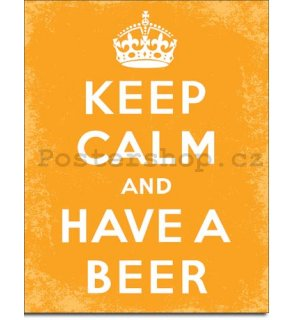 Plechová cedule - Keep Calm and Have a Beer