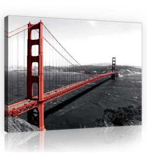 Obraz na plátně: Golden Gate Bridge (1) - 75x100 cm