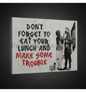 Obraz na plátně: Dont Forget to Eat Your Lunch (graffiti) - 75x100 cm