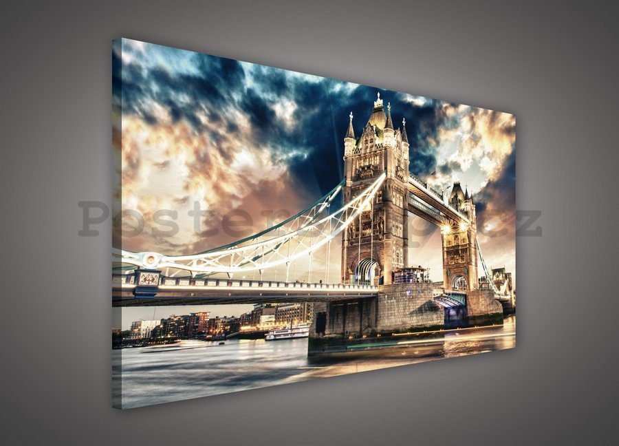 Obraz na plátně: Tower Bridge (3) - 75x100 cm
