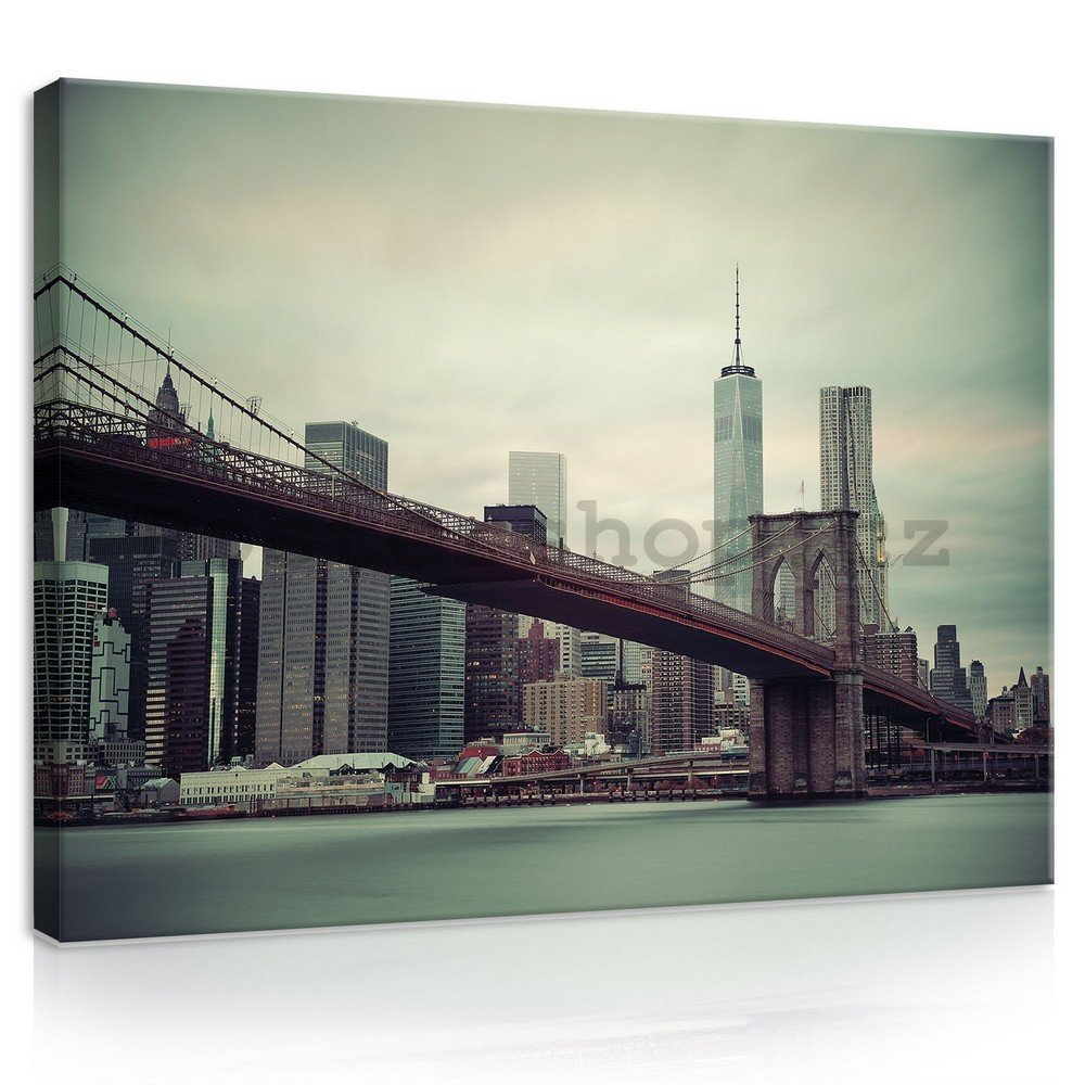 Obraz na plátně: Brooklyn Bridge (2) - 75x100 cm
