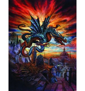 Fototapeta: Dragon Flying  - 254x184 cm