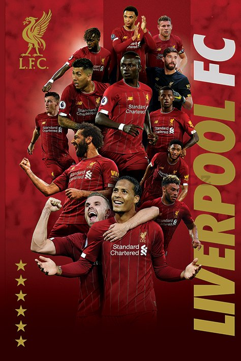 Plakát - Liverpool FC (Players 2019-20)