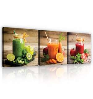 Obraz na plátně: Smoothie - set 3ks 25x25cm