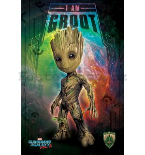 Plakát - Guardians of the Galaxy Vol. 2 (I Am Groot - Space)