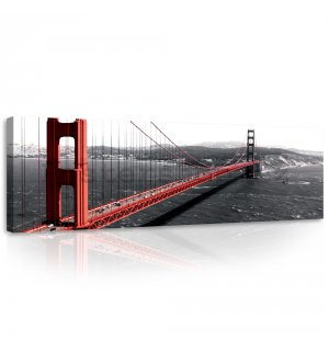 Obraz na plátně: Golden Gate Bridge (1) - 145x45 cm